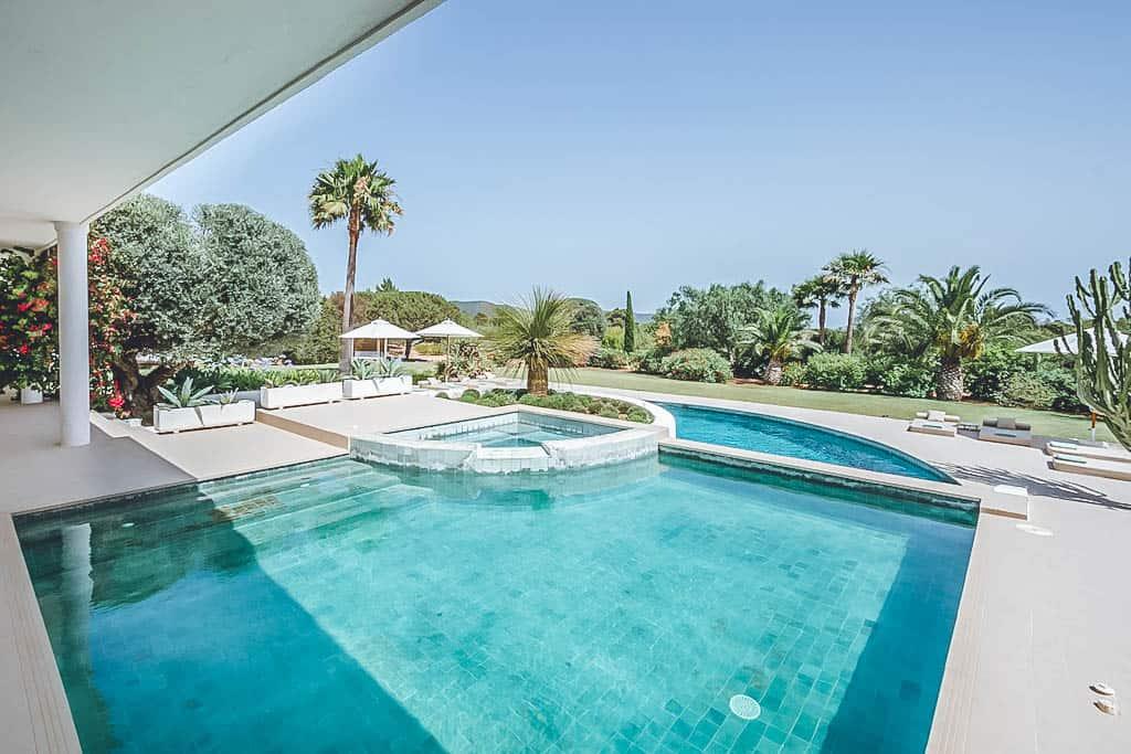 Villa Rental Ibiza - 6 Bedrooms - Balearic Bliss - Villa Klara - view from plunge pool