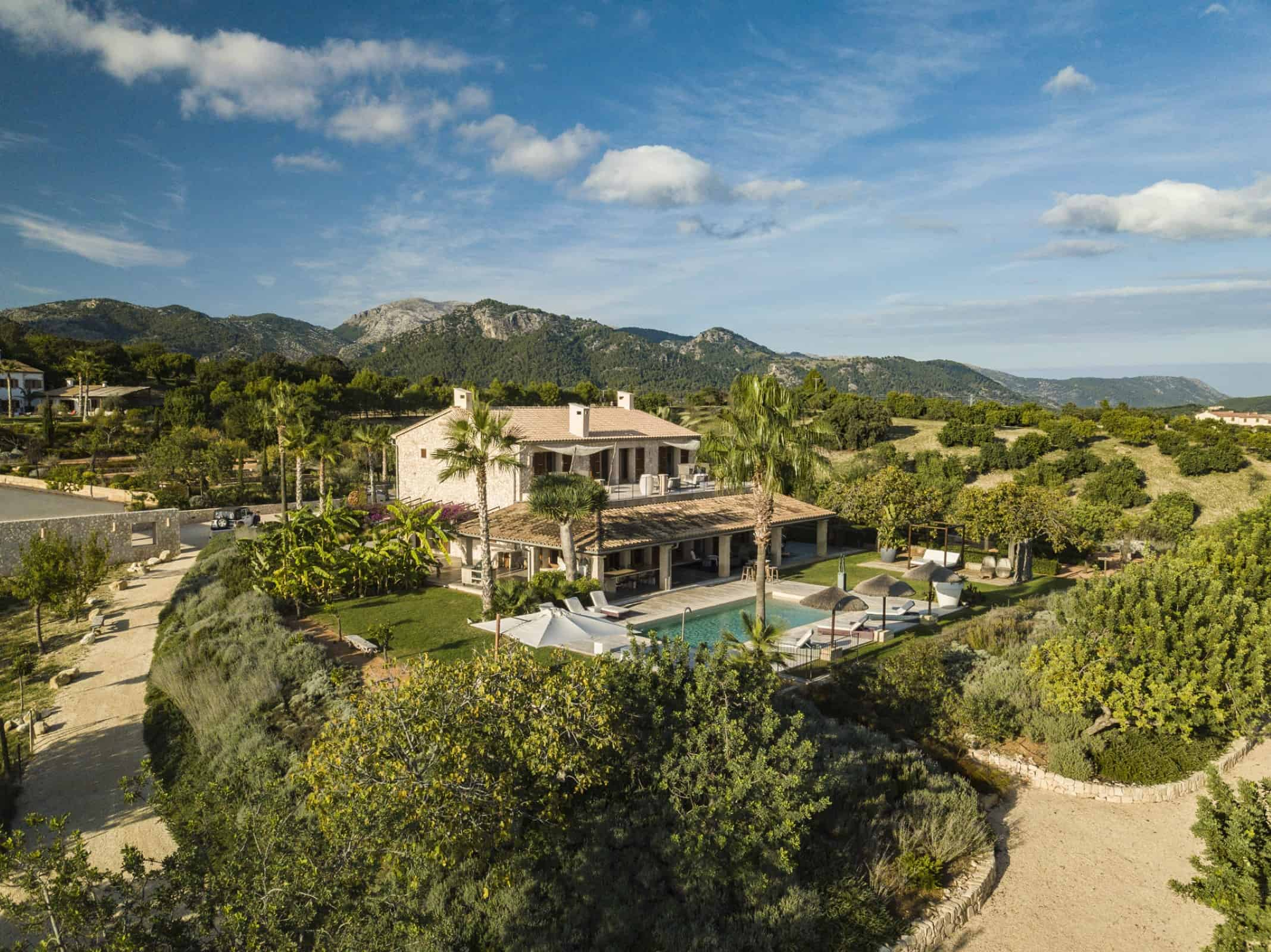 Villa Rental in Mallorca - 5 Bedrooms - Balearic Bliss - Can Vi Baix - Moscari - aerial view